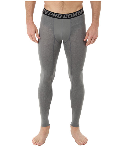 Nike - Core Compression Tight 2.0 (Carbon Heather/Black) Men's Workout