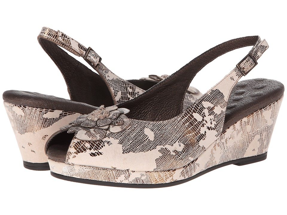 Walking Cradles - Napoli (Light Taupe Lizard) Women's Wedge Shoes