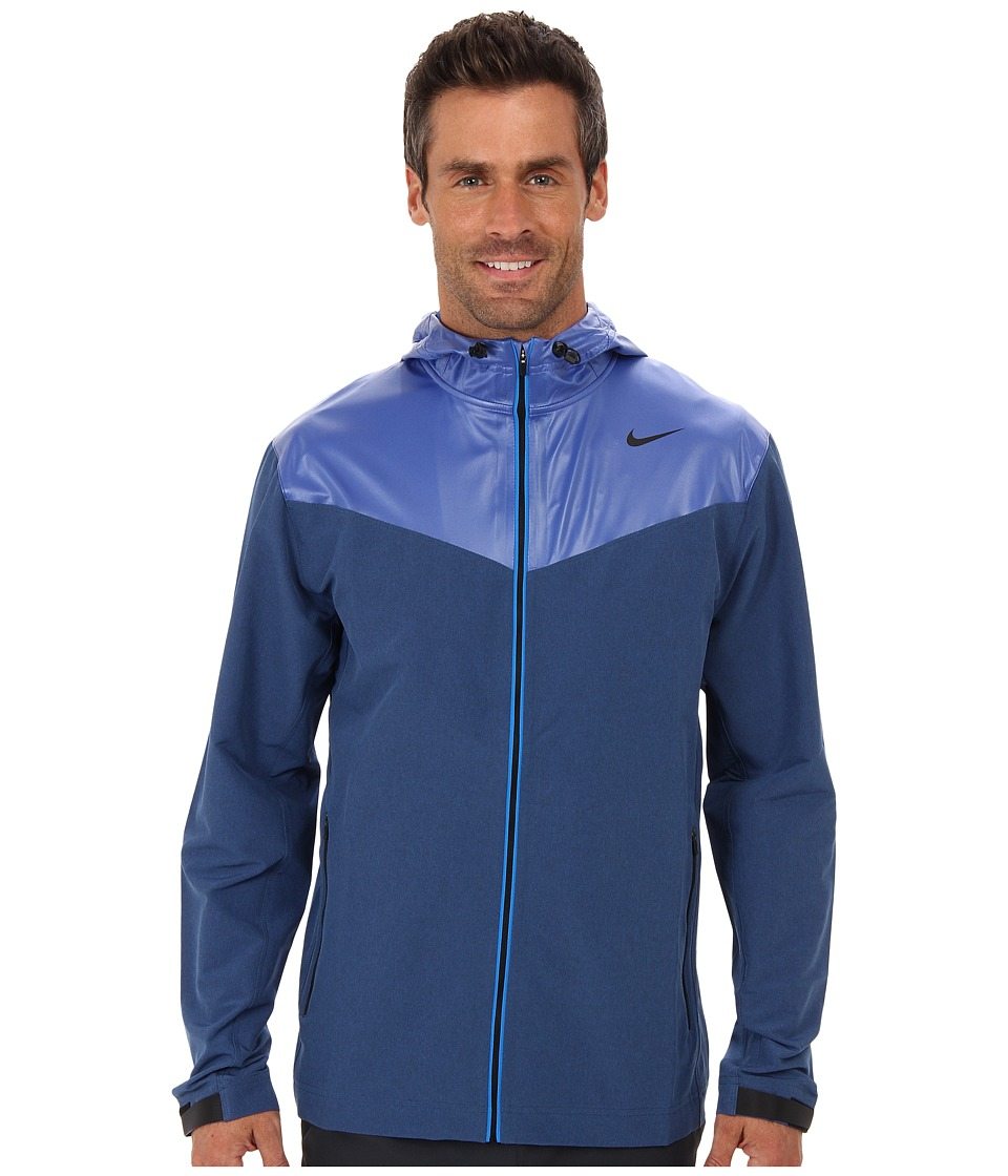Nike - Sweatless Hooded Jacket (Game Royal/Game Royal/Black) Men