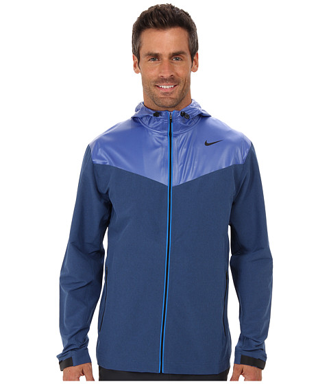 Nike - Sweatless Hooded Jacket (Game Royal/Game Royal/Black) Men's Coat