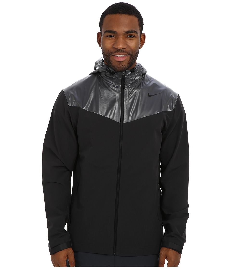 Nike - Sweatless Hooded Jacket (Black/Black) Men