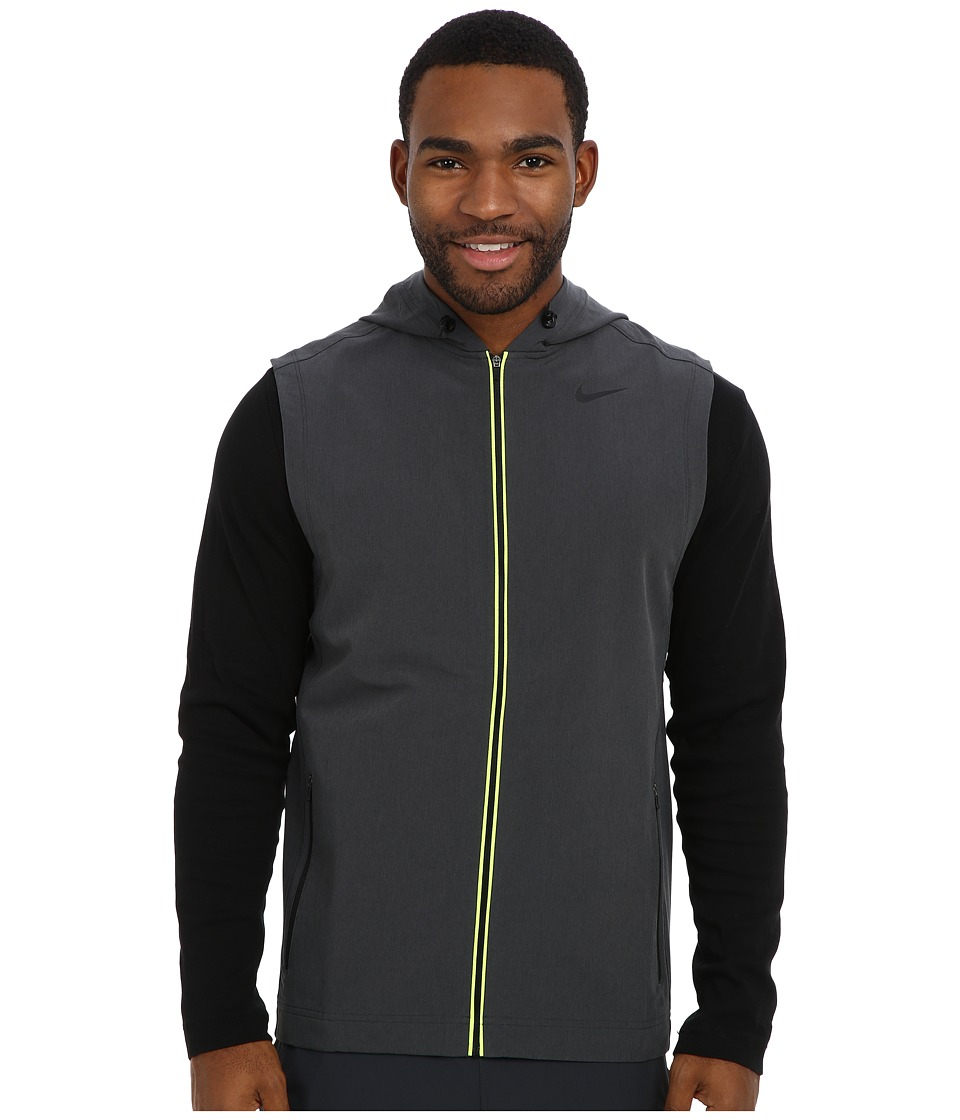 Nike - Sweat Less Vest (Black Heather/Black) Men's Vest