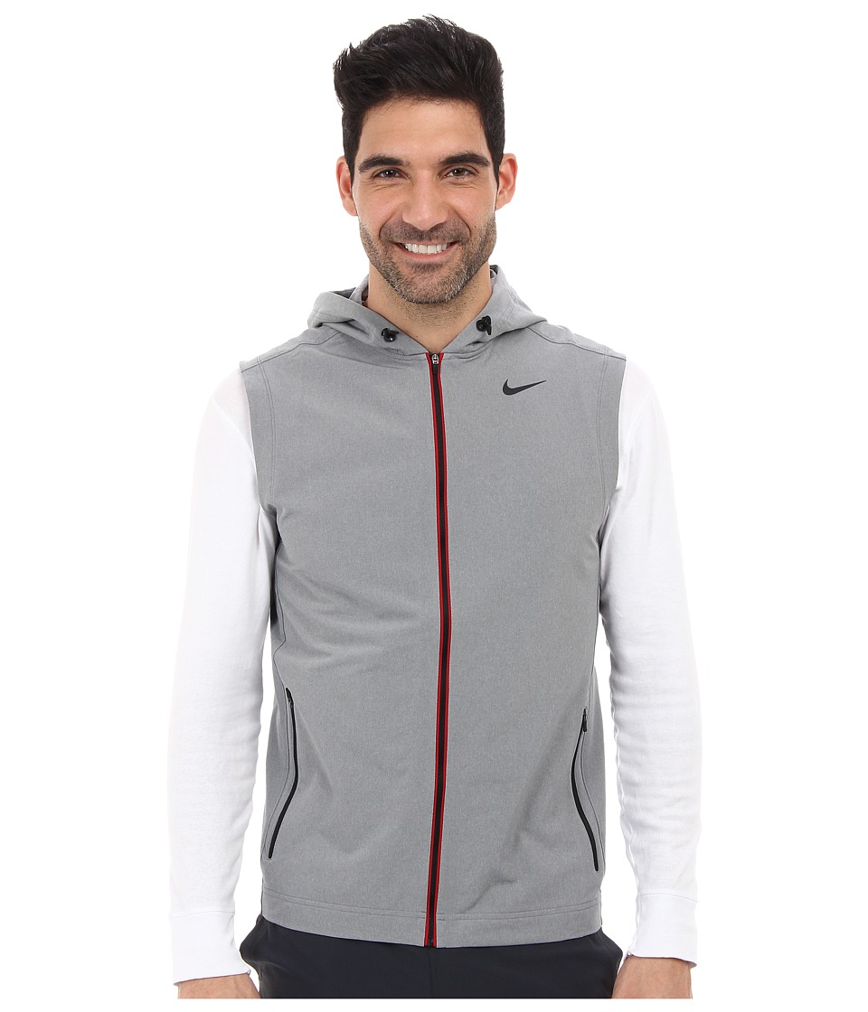 Nike - Sweat Less Vest (Dark Grey Heather/Black) Men's Vest