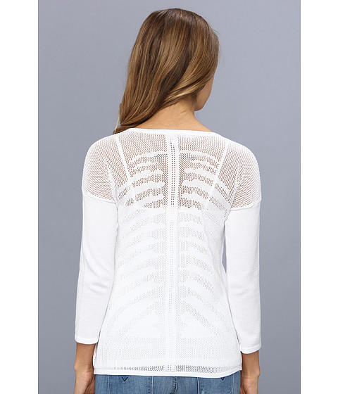 Autumn Cashmere - Mesh Skeleton Back Top (Bleach White) Women's Sweater