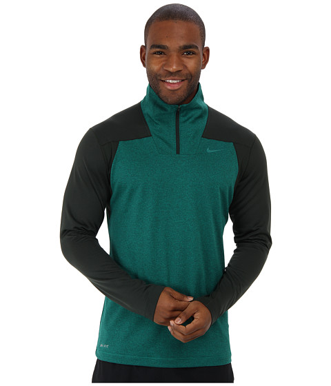 Nike - Dri-Fit Sphere Half-Zip Shirt (Deepest Green/Mystic Green) Men's Long Sleeve Pullover