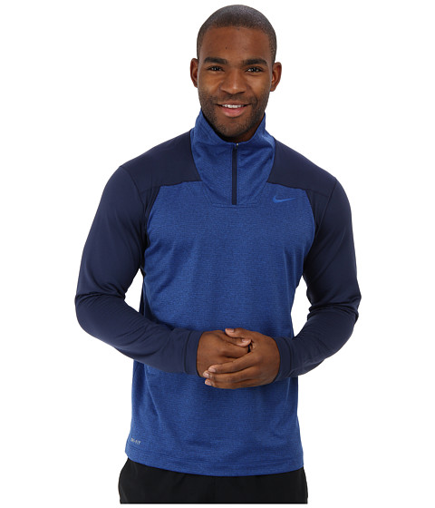 Nike - Dri-Fit Sphere Half-Zip Shirt (Midnight Navy/Game Royal) Men's Long Sleeve Pullover