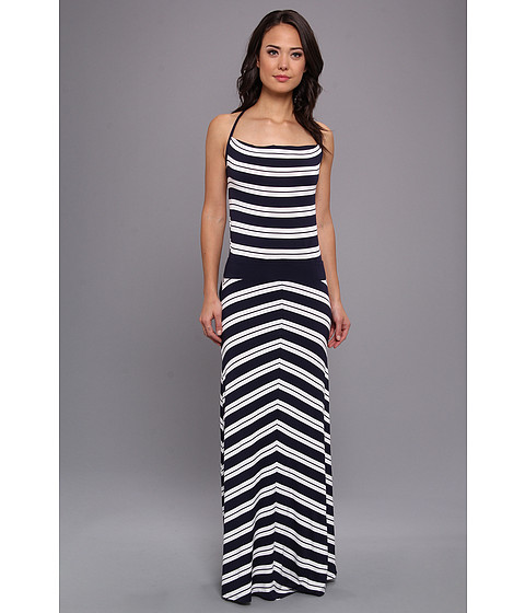 Michael Stars - Bastille Stripe Maxi Dress (Navy/White) Women