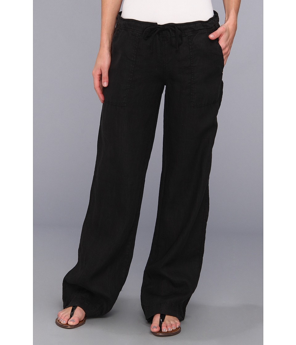 Michael Stars - Linen Drawstring Pant (Black) Women's Casual Pants