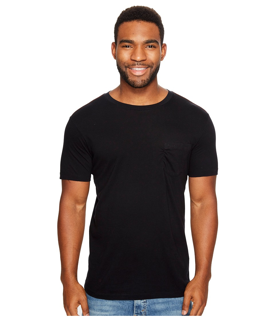 RVCA - PTC Two-Pocket Tee (Black 1) Men's Short Sleeve Pullover