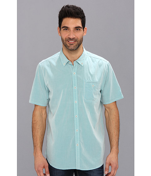 Tommy Bahama Denim - Island Modern Fit Great Chambray S/S Shirt (Alpine Pool) Men