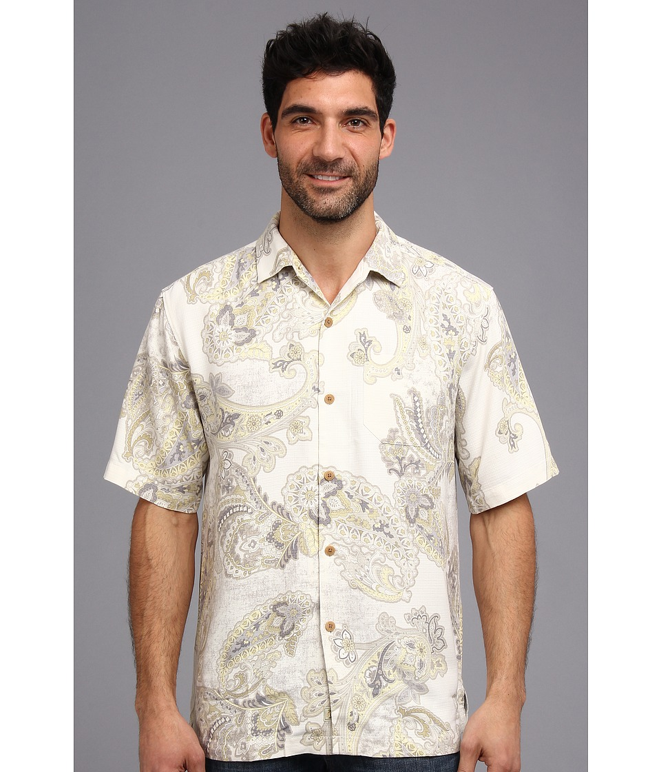 Tommy Bahama - Spanish Town Paisley S/S Camp Shirt (Continental) Men's Short Sleeve Button Up