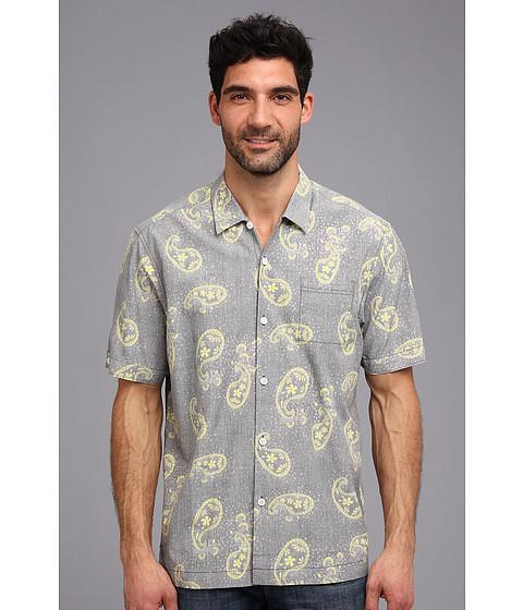 Tommy Bahama - Island Modern Fit Paisley Buchanan S/S Camp Shirt (Weimaraner) Men's Short Sleeve Button Up
