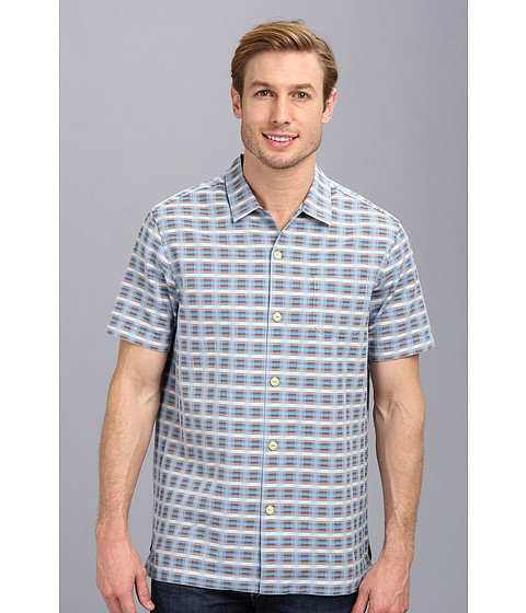Tommy Bahama - Pixel In Paradise S/S Camp Shirt (Light Sky) Men's Short Sleeve Button Up