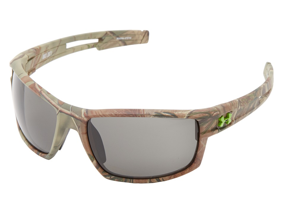Under Armour - UA Captain (UA Captain(Ansi)Realtree Frame w/ Black Rubber/Gray Lens) Sport Sunglasses