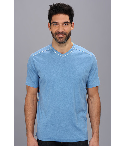 Tommy Bahama Denim - Fray Day V-Neck Tee (Vista) Men's Short Sleeve Pullover