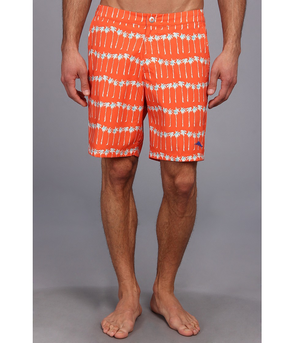 Tommy Bahama - The Saint Tropez Palm Ave 7.5 Swim Trunks (Orange Blast) Men