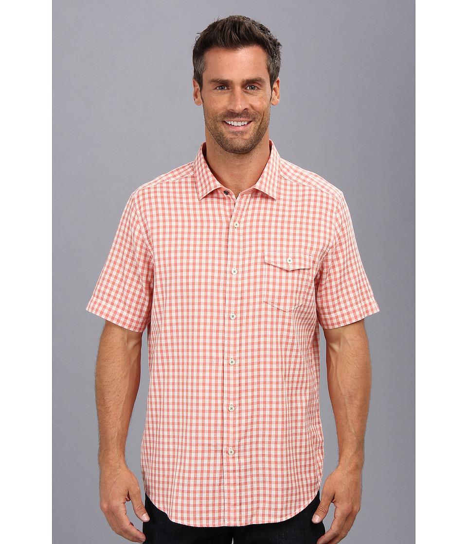 Tommy Bahama - Island Modern Fit I Be Weave Check S/S Shirt (Tropicana) Men