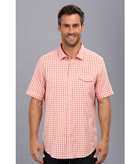 Tommy Bahama Denim - Island Modern Fit I Be Weave Check S/S Shirt (Tropicana) Men's Short Sleeve Button Up