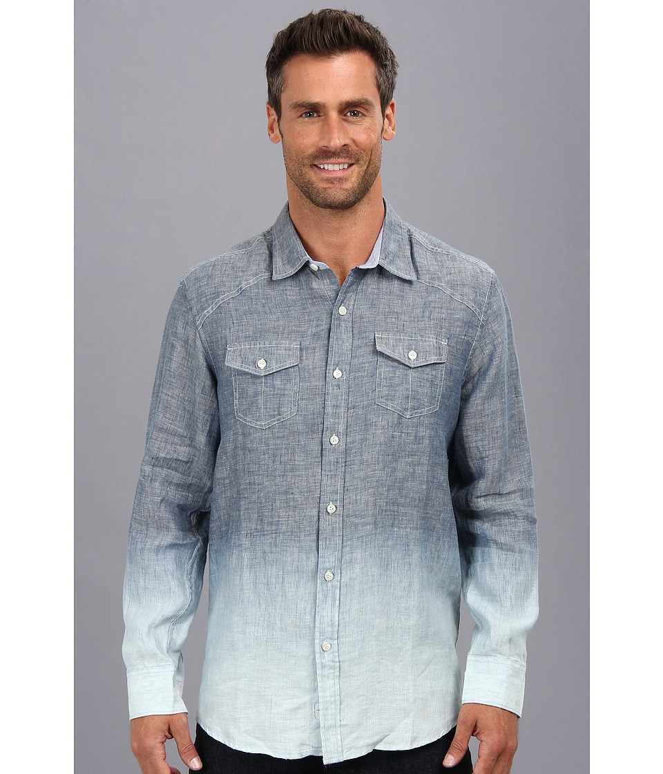 Tommy Bahama - Faded Indigo L/S (Indigo) Men's Long Sleeve Button Up