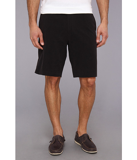 Tommy Bahama - Coastal Twill Flat Front Short (Black) Men