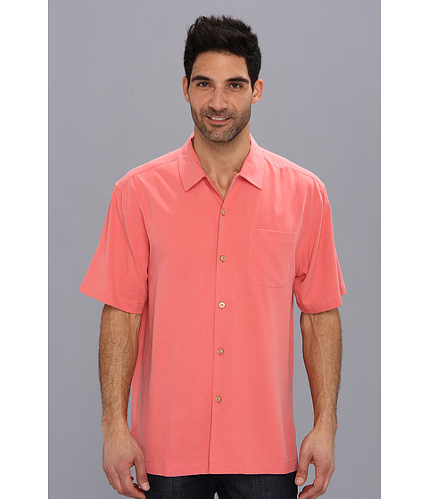 Tommy Bahama - Catalina Twill Camp Shirt (Shadow Pink) Men's Short Sleeve Button Up