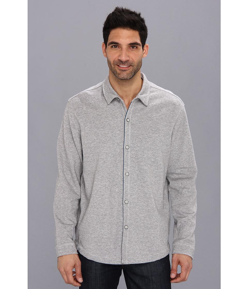 Tommy Bahama - Double Identity Shirt Jacket (Grey Heather) Men's Long Sleeve Button Up