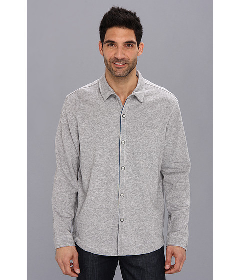 Tommy Bahama - Double Identity Shirt Jacket (Grey Heather) Men's Long Sleeve Button Up