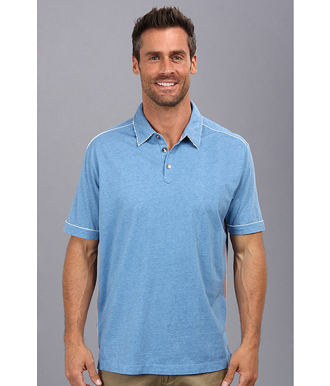 Tommy Bahama Denim - New Fray Day Polo (Vista) Men's Short Sleeve Pullover