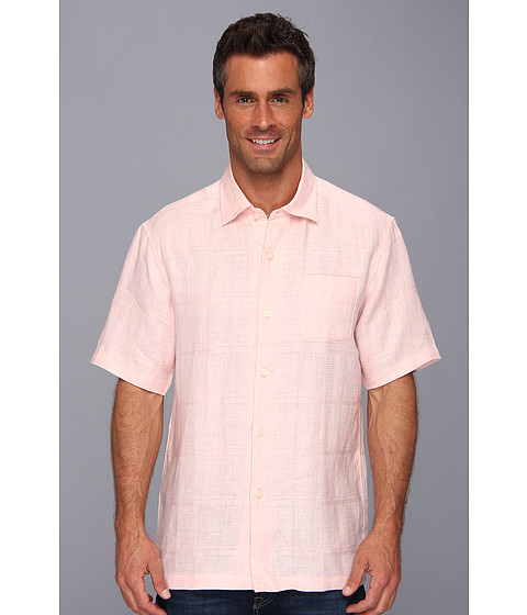 Tommy Bahama - TB Monte Carlo S/S Camp Shirt (Flamingo) Men