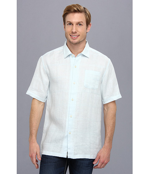Tommy Bahama - TB Monte Carlo S/S Camp Shirt (Blue Fluff) Men
