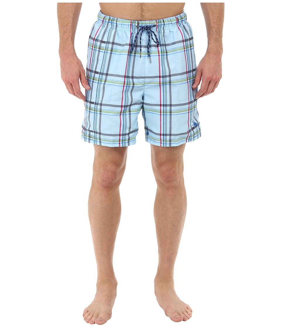 Tommy Bahama - The Naples Dock Roll 6 Reversible Swim Trunks (Chambray Blue) Men's Swimwear