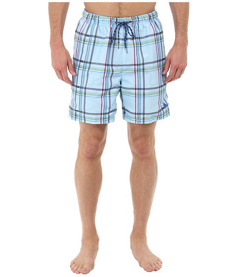 Tommy Bahama - The Naples Dock Roll 6 Reversible Swim Trunks (Chambray Blue) Men