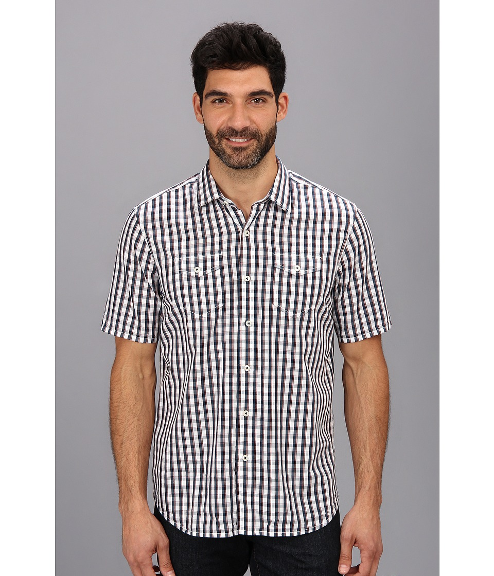 Tommy Bahama - Island Modern Fit Union Square Check S/S Shirt (Navy) Men