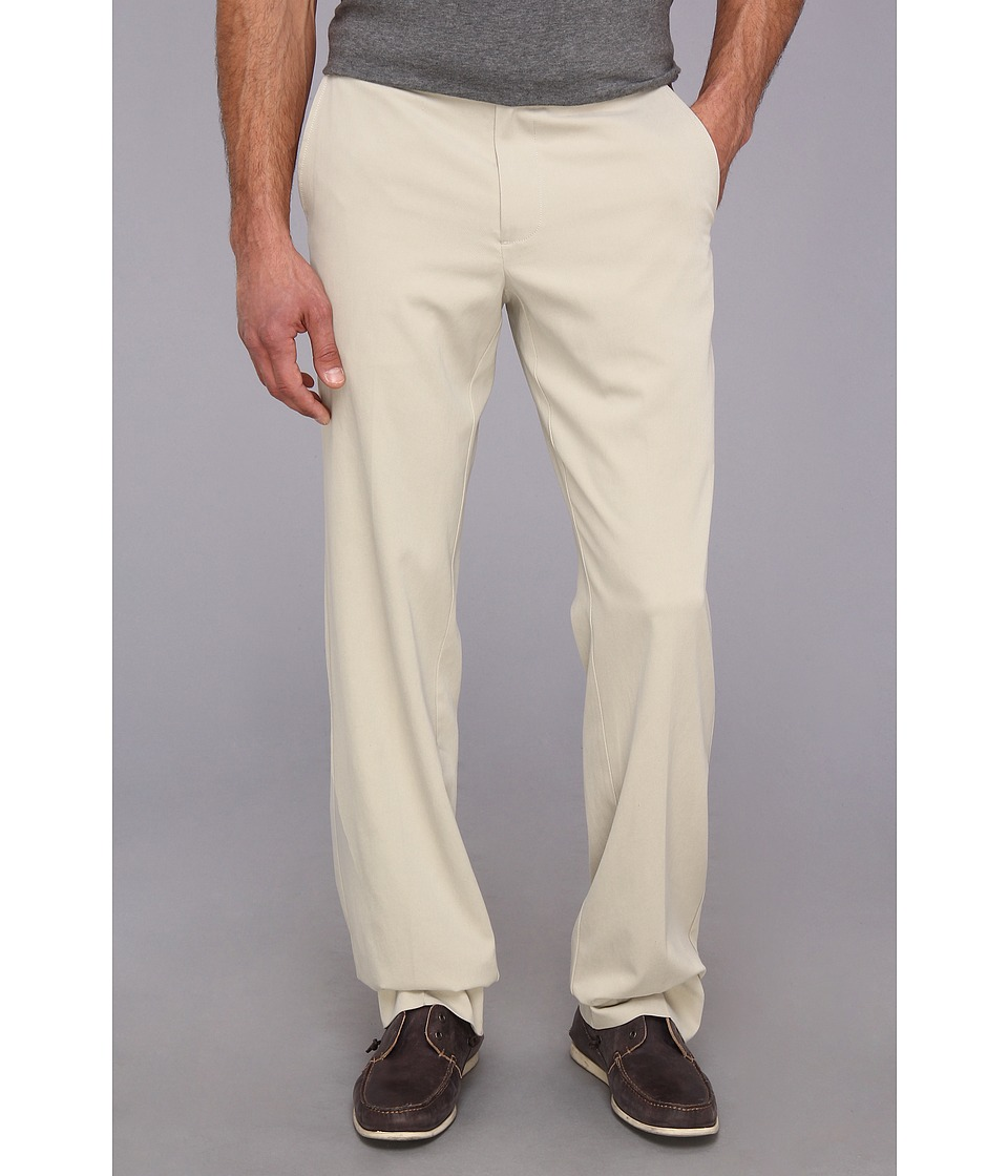 Tommy Bahama - Coastal Twill Flat Front Pant (Khaki Sands) Men's Casual Pants