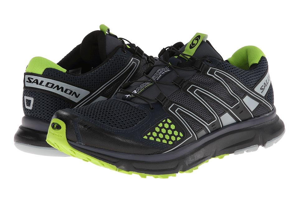 Salomon - XR Mission (Deep Blue/Grey Denim/Granny Green) Men's Shoes