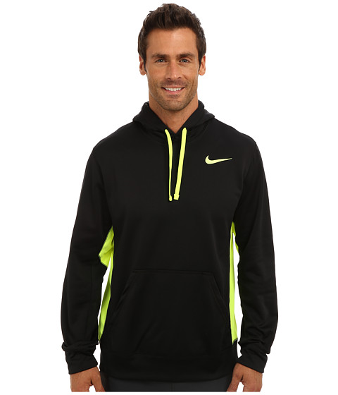 Nike - KO Hoodie 2.0 (Black/Volt/Volt 2) Men's Long Sleeve Pullover