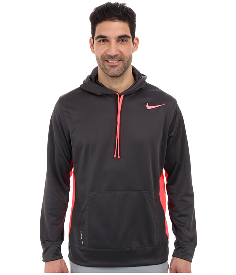 Nike - KO Hoodie 2.0 (Anthracite/Hyper Punch/Hyper Punch) Men's Long Sleeve Pullover