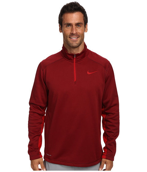 Nike - KO 1/4 Zip Top (Team Red/Gym Red/Gym Red) Men's Long Sleeve Pullover