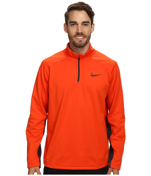 Nike - KO 1/4 Zip Top (Team Orange/Team Orange/Anthracite) Men's Long Sleeve Pullover