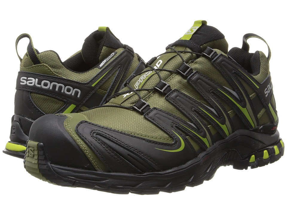 Salomon - XA PRO 3D CS WP (Iguana Green/Black/Seaweed Green) Men's Shoes