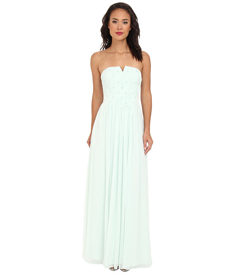 Ted Baker - Neeymo Bandeau Pleated Maxi Dress (Mint) Women's Dress
