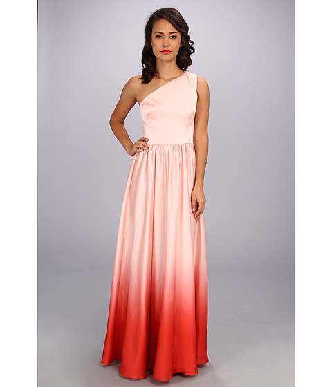 Ted Baker - Daneka Single Shoulder Ombre Maxi Dress (Nude Pink) Women's Dress