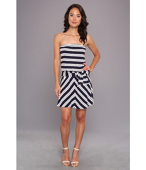 Michael Stars - Bastille Stripe Strapless Dress (Navy/White) Women's Dress