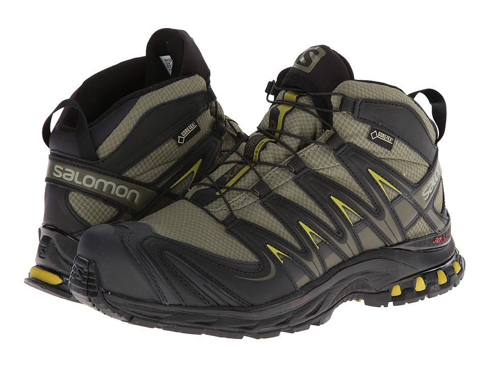 Salomon - XA PRO Mid GTX (Iguana Green/Black/Corylus Green) Men's Hiking Boots