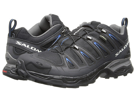 Salomon - X Ultra GTX (Black/Black/Bright Blue) Men's Lace up casual Shoes