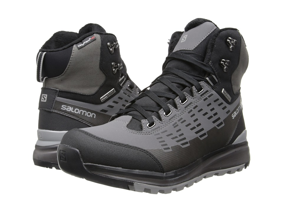 Salomon - Kaipo Mid CS WP (Black/Autobahn/Pewter) Men's Shoes