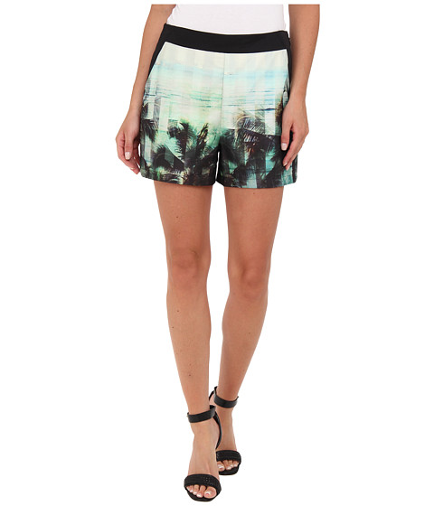 Ted Baker - Jasiri Palm Tree Paradise Print (Light Pink) Women's Shorts