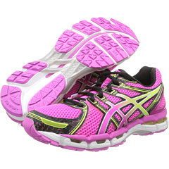ASICS GEL-Kayano 19 (Neon Pink/Sunshine/Black) Women's Running Shoes