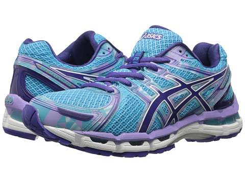 ASICS GEL-Kayano 19 (Turquoise/Grape/White) Women's Running Shoes