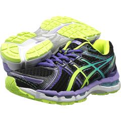 ASICS GEL-Kayano 19 (Black/Turquoise/Grape) Women's Running Shoes